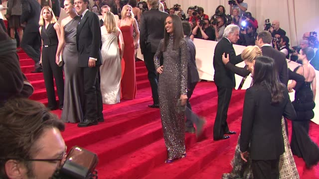 joan smalls at the 'alexander mcqueen savage beauty' costume institute gala at the metropolitan museum of art at new york ny - joan smalls stock videos & royalty-free footage
