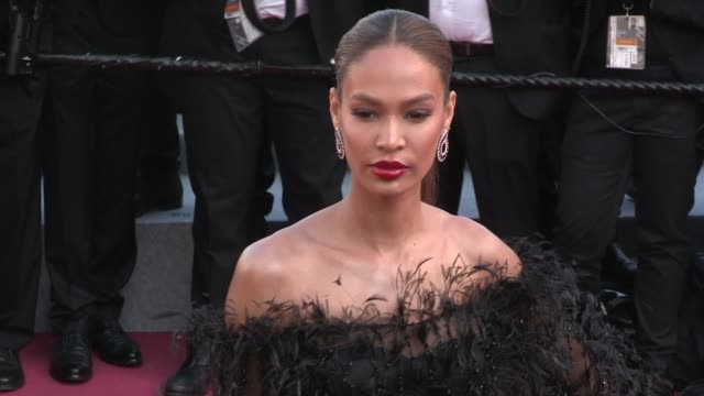 joan smalls on the red carpet for the premiere of les filles du soleil at the cannes film festival 2018 saturday 12 may 2018 cannes france - joan smalls stock videos & royalty-free footage