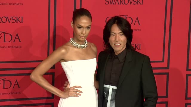 joan smalls steven gan at 2013 cfda fashion awards arrivals at alice tully hall on june 03 2013 in new york new york - joan smalls stock videos & royalty-free footage