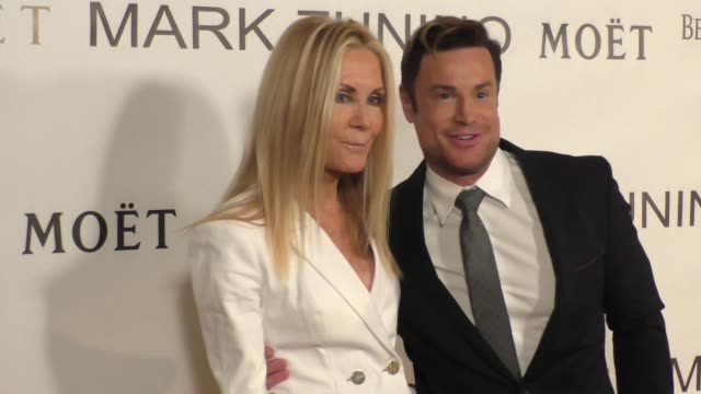 joan van ark rene horsch at the mark zunino atelier store opening in beverly hills at celebrity sightings in los angeles on january 07 2016 in los... - ark stock videos and b-roll footage