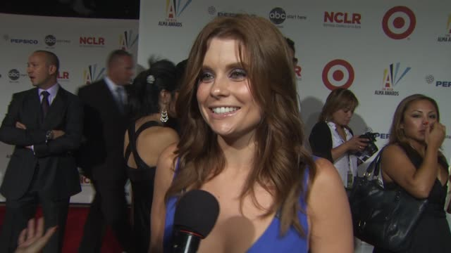 joanna garcia on the importance of the alma awards and being acknowledged at the 2009 alma awards at westwood los angeles ca - alma awards stock videos and b-roll footage
