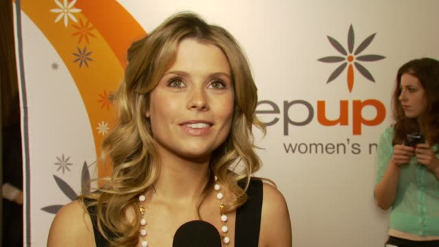 stockvideo's en b-roll-footage met joanna garcia on the step up organization her future career plans and her present personal life at the step up women's network inspiration awards at... - women's image network awards