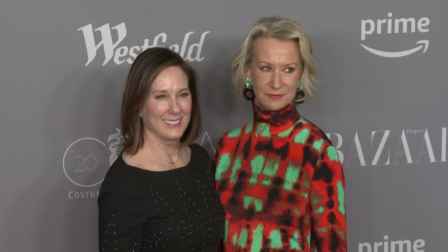 stockvideo's en b-roll-footage met joanna johnston and kathleen kennedy at the 20th costume designers guild awards at the beverly hilton hotel on february 20 2018 in beverly hills... - beverly hilton hotel