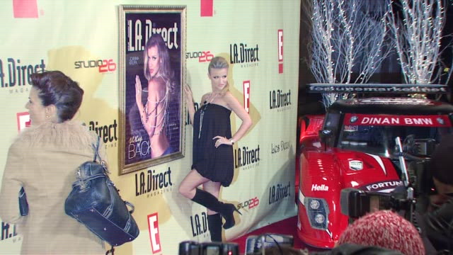 joanna krupa at the la direct magazine's holiday party at les deux in los angeles california on december 14 2007 - les deux club stock videos & royalty-free footage
