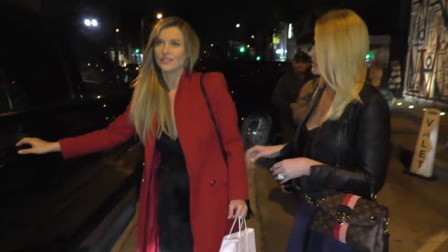 interview joanna krupa talks about how lady gaga was disgusting wearing the meat dress outside craig's restaurant in west hollywood in celebrity... - dress stock videos & royalty-free footage