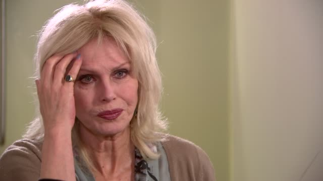 london int joanna lumley interview sot re ivory trade and elephants - joanna lumley stock videos & royalty-free footage