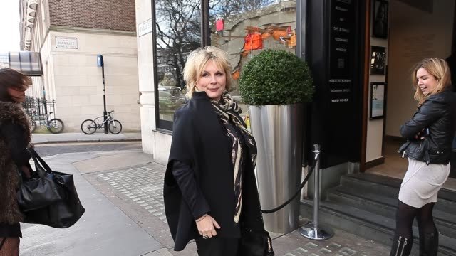 joanna lumley melanie brown emma bunton melanie chisholm geri halliwell at celebrity video sightings in london on february 5 2013 in london england - geri horner stock videos & royalty-free footage