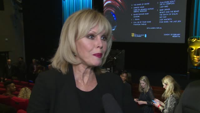 Joanna Lumley on becoming the new host of the awards female positivity of the season and future hopes at BAFTA on January 09 2018 in London England