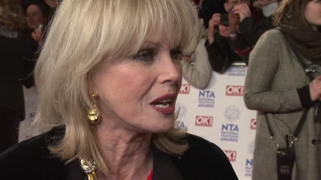 interview joanna lumley on being at the awards national tv awards 2013 at 02 arena on january 23 2013 in london england - joanna lumley stock videos & royalty-free footage