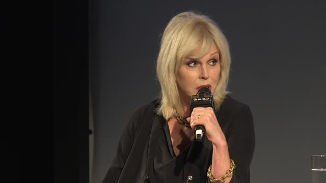 interview joanna lumley on dawn french betting jennifer saunders 100 thousand pounds to write the script for 'absolutely fabulous' at build series... - dawn french stock videos & royalty-free footage