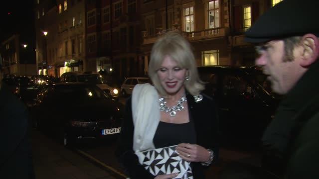 joanna lumley on january 14 2016 in london england - joanna lumley stock videos & royalty-free footage