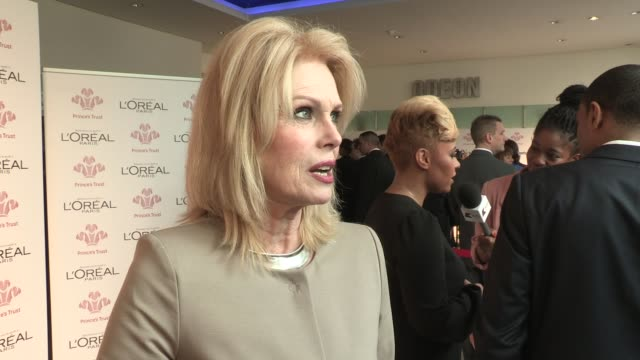 joanna lumley on why she supports the prince's trust at the prince's trust and l'oreal paris celebrate success awards at odeon leicester square on... - joanna lumley stock videos & royalty-free footage