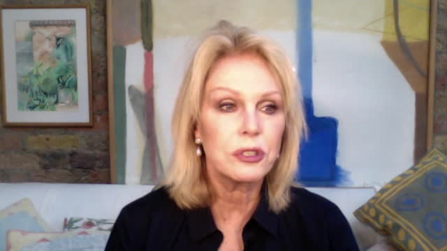 """joanna lumley saying prince philip had a shy side to him - """"bbc news"""" stock videos & royalty-free footage"""