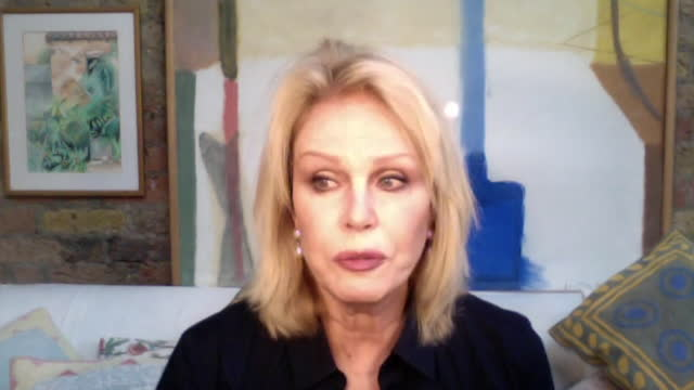 """joanna lumley saying prince philip will be remembered for his duke of edinburgh award scheme - """"bbc news"""" stock videos & royalty-free footage"""