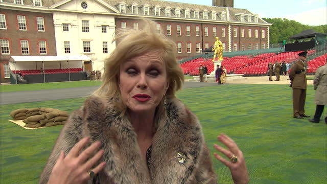 joanna lumley speaking about what the gurkhas bring to a battle and why they are great hundreds of gurkhas are gathering in central london tonight to... - joanna lumley stock videos & royalty-free footage