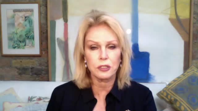 "joanna lumley talking about prince philip's admiration for ""passion and energy"" and his art collection - passion stock videos & royalty-free footage"