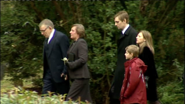 Hampshire EXT Coffin carried along at funeral of murdered landscape architect Jo Yeates Parents of Jo Yeates David and Teresa Yeates and brother...