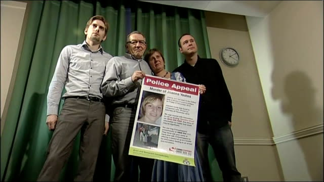 police stage reconstruction *** WARNING Parents of Joanna Yeates Chris Yeates and Greg Reardon posing with Police Appeal poster Greg Reardon Chris...