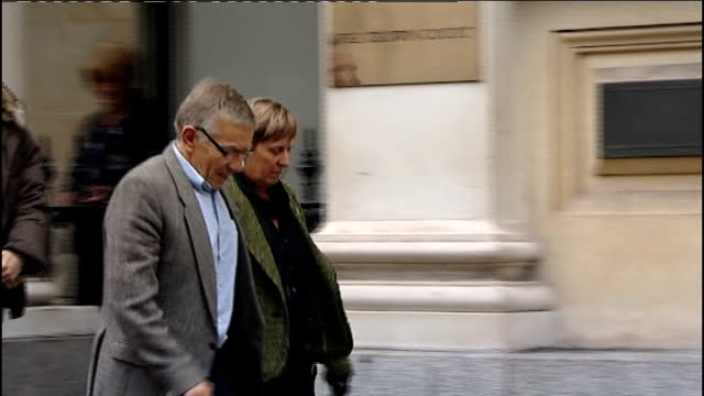 defendant vincent tabak gives evidence england bristol bristol crown court ext david yeates and teresa yeates leaving court pan - defendant stock videos and b-roll footage
