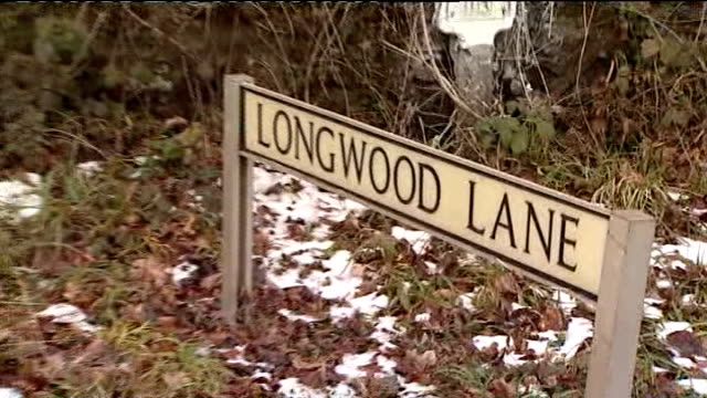 defendant vincent tabak gives evidence longwood lane december 2010 ext police road block and cordon in longwood lane alongside woodland where body of... - defendant stock videos and b-roll footage