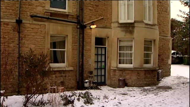 defendant vincent tabak gives evidence december 2010 bristol clifton canynge road exterior of flat where joanne yeates lived path beside flat pan to... - defendant stock videos and b-roll footage