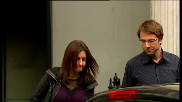 Vincent Tabak trial continues Bristol Crown Court Florian Lehman and Zoe Lehman from court and into car