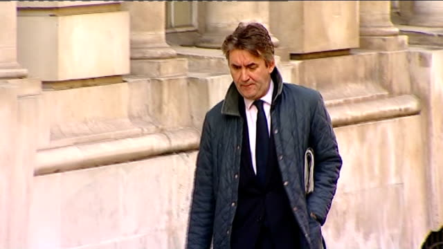 Vincent Tabak trial Court arrivals ENGLAND Bristol EXT William Clegg QC for the defence arriving at court / Police security van arriving as driven...