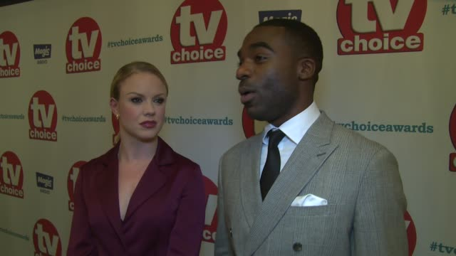 interview joanne clifton ore oduba on the new series becoming a father and predictions for the future on september 04 2017 in london england - soap opera stock videos and b-roll footage