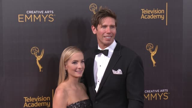 vídeos de stock e filmes b-roll de joanne froggatt and james cannon at the 2016 creative arts emmy awards - day 1 - arrivals at microsoft theater on september 10, 2016 in los angeles,... - microsoft theater los angeles