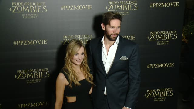 Joanne Froggatt at the 'Pride And Prejudice And Zombies' Los Angeles Premiere at Harmony Gold Theater on January 21 2016 in Los Angeles California