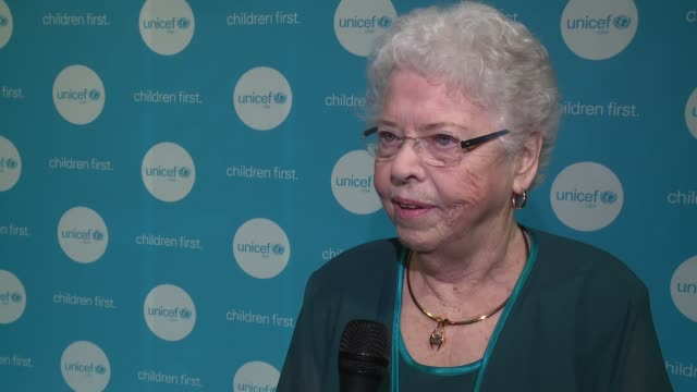 interview joanne rogers talks about knowing yoyo ma since he was a teenager and how her late husband fred rogers adored him at unicef children's... - the castle stock videos and b-roll footage