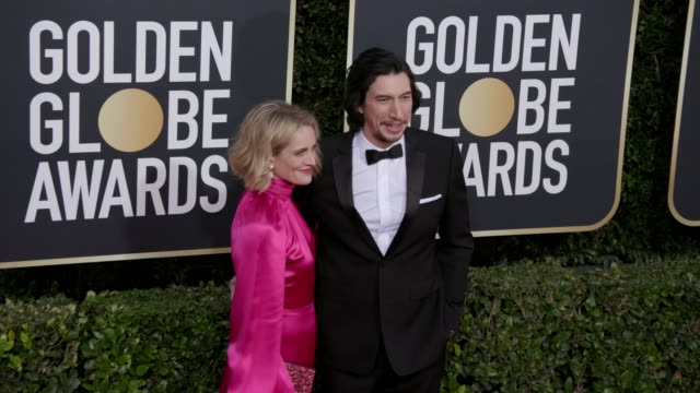 joanne tucker and adam driver at 77th annual golden globe awards at the beverly hilton hotel on january 05, 2020 in beverly hills, california. - tucker stock videos & royalty-free footage