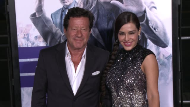 Joaquim de Almeida and Carla Ortiz at the Our Brand Is Crisis Los Angeles Premiere at TCL Chinese Theatre on October 26 2015 in Hollywood California