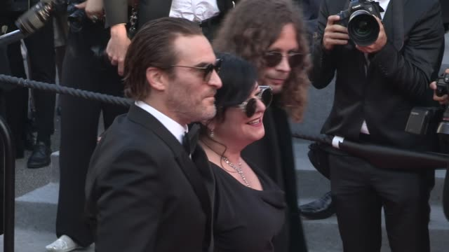 joaquin phoenix and director lynne ramsay rooney mara on the red carpet for the closing ceremony of the cannes film festival 2017 on may 28 2017 in... - joaquin phoenix stock videos & royalty-free footage