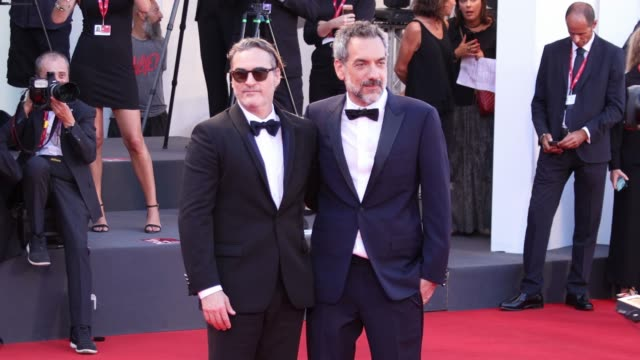 joaquin phoenix and todd philips walk the red carpet ahead of the joker screening during the 76th venice film festival at sala grande on august 31... - joaquin phoenix stock videos & royalty-free footage