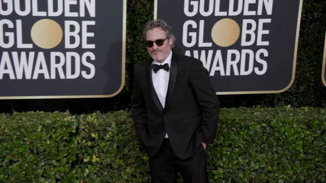 vidéos et rushes de joaquin phoenix at 77th annual golden globe awards at the beverly hilton hotel on january 05, 2020 in beverly hills, california. - golden globe awards