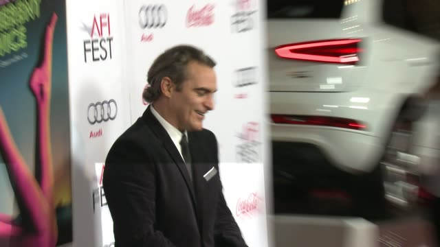 joaquin phoenix at afi fest 2014 presented by audi gala premiere of inherent vice at the egyptian theatre on november 08 2014 in hollywood california - joaquin phoenix stock videos & royalty-free footage