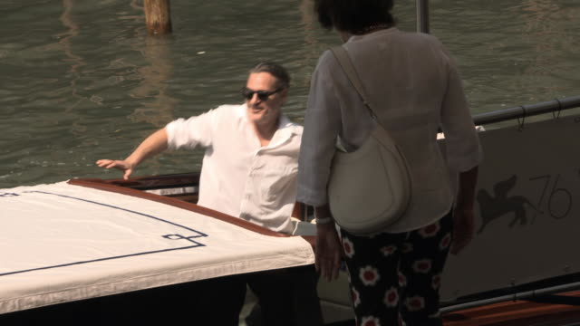 joaquin phoenix at celebrity sightings in venice on august 31 2019 in venice italy - joaquin phoenix stock videos & royalty-free footage