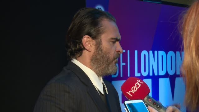 joaquin phoenix at odeon leicester square on october 14 2017 in london england - joaquin phoenix stock videos & royalty-free footage