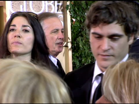 joaquin phoenix at the 2006 golden globe awards arrivals at the beverly hilton in beverly hills california on january 16 2006 - joaquin phoenix stock videos & royalty-free footage