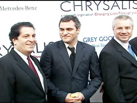 joaquin phoenix at the chrysalis' fifth annual butterfly ball at private residence in bel air california on june 10 2006 - joaquin phoenix stock videos & royalty-free footage