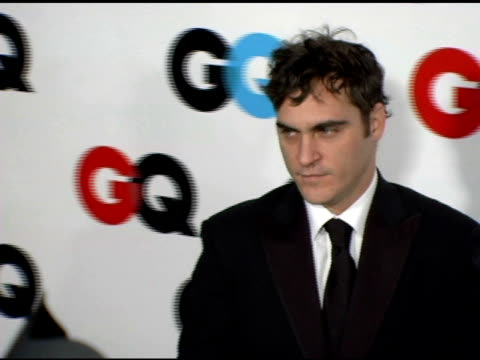 joaquin phoenix at the gq's 2005 'men of the year' celebration at mr chow beverly hills in beverly hills california on december 2 2005 - joaquin phoenix stock videos & royalty-free footage