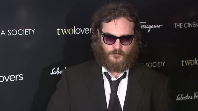 Joaquin Phoenix at the Magnolia Pictures and The Cinema Society Present Premiere of Two Lovers at New York NY