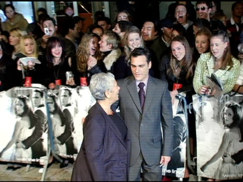 joaquin phoenix at the 'walk the line' new york premiere at the beacon theater in new york new york on november 13 2005 - joaquin phoenix stock videos & royalty-free footage