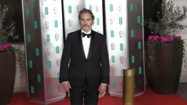 joaquin phoenix attends the ee british academy film awards 2020 after party at the grosvenor house hotel on february 02 2020 in london england - 英国アカデミー映画賞点の映像素材/bロール