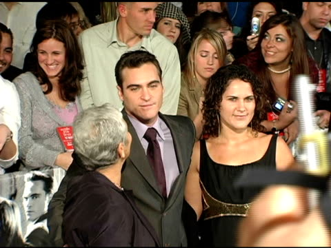 joaquin phoenix liberty phoenix and guest at the 'walk the line' new york premiere at the beacon theater in new york new york on november 13 2005 - joaquin phoenix stock videos & royalty-free footage