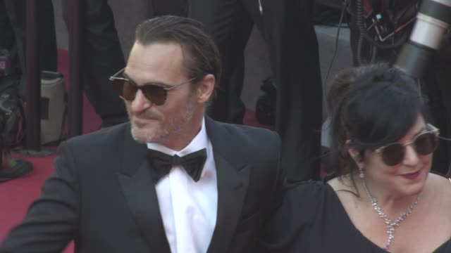 joaquin phoenix lynne ramsay at closing ceremony red carpet on may 28 2017 in cannes france - joaquin phoenix stock videos & royalty-free footage