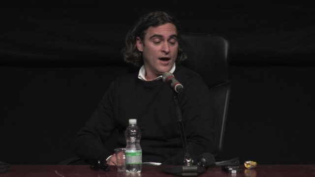 interview joaquin phoenix on acting with scarlett johansson's voice at 'her' press conference 8th rome film festival at auditorium parco della musica... - scarlett johansson stock videos and b-roll footage