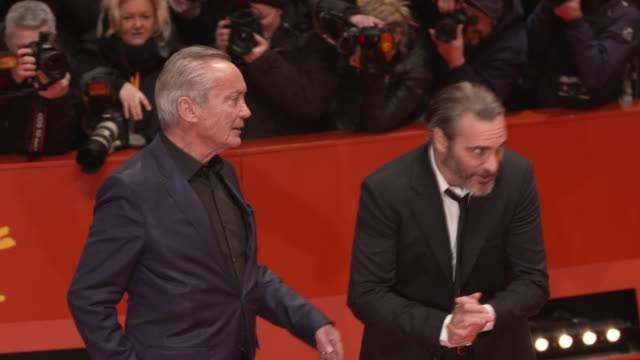 joaquin phoenix udo kier and gus van sant 68th berlin film festival don't worry he won't get far on foot red carpet at berlinale palast on february... - joaquin phoenix stock videos & royalty-free footage