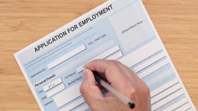 job application form - unemployment stock videos and b-roll footage